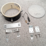 """8"""" TomTom Drum, Sawed in Half, Made into Two Piezo Pickup Electronic Drum Pads #MusicMonday"""