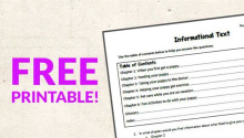 Text Features Worksheets Free Printable Scavenger Hunt Activity